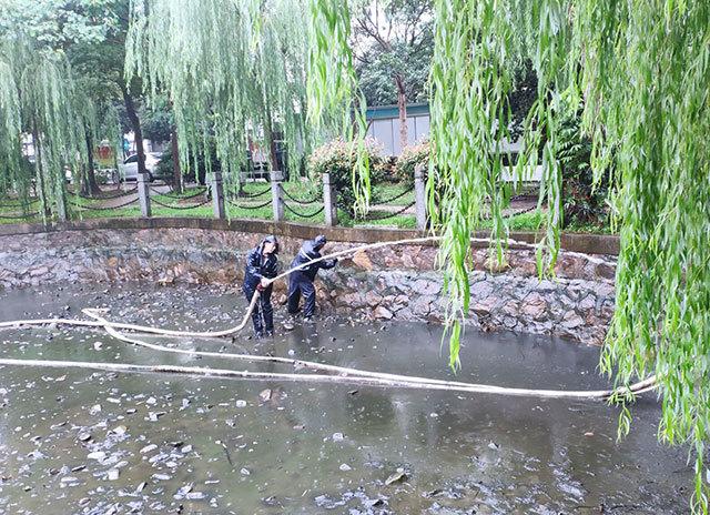 吉山四社区:池塘清淤还原社区美景