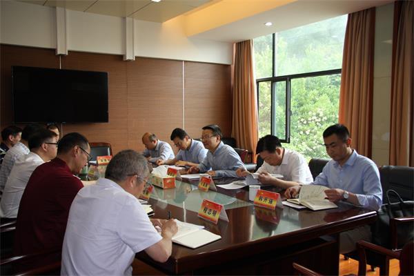 市党史学习教育第三巡回指导组进驻市人防办指导学习教育工作